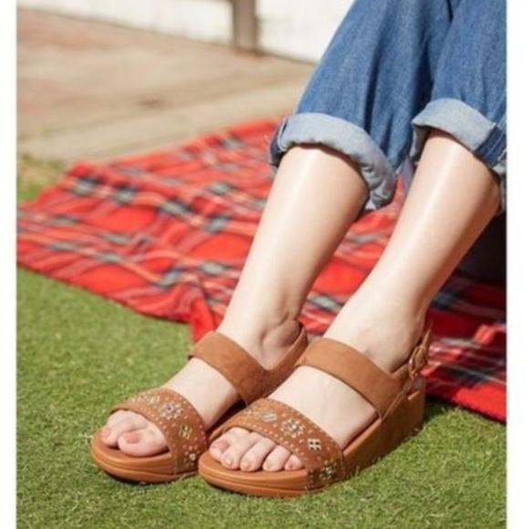011a64bcee1e FitFlop Lulu Aztek Stud Back-Strap Sandal